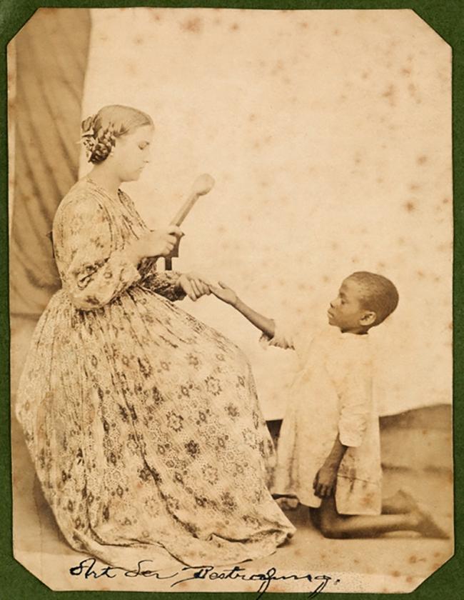 Hermann Kummler (compiler) (1863-1949) '[Mistress punishing a native child]' 1861-1862