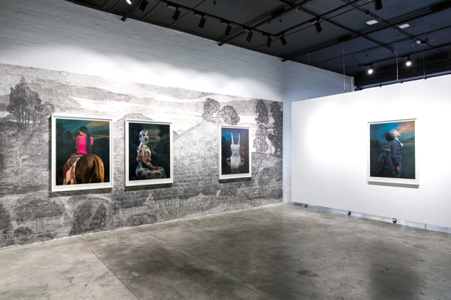 Installation view of the exhibition 'Jacqui Stockdale: Ghost Hoovanah' at This Is No Fantasy, Melbourne