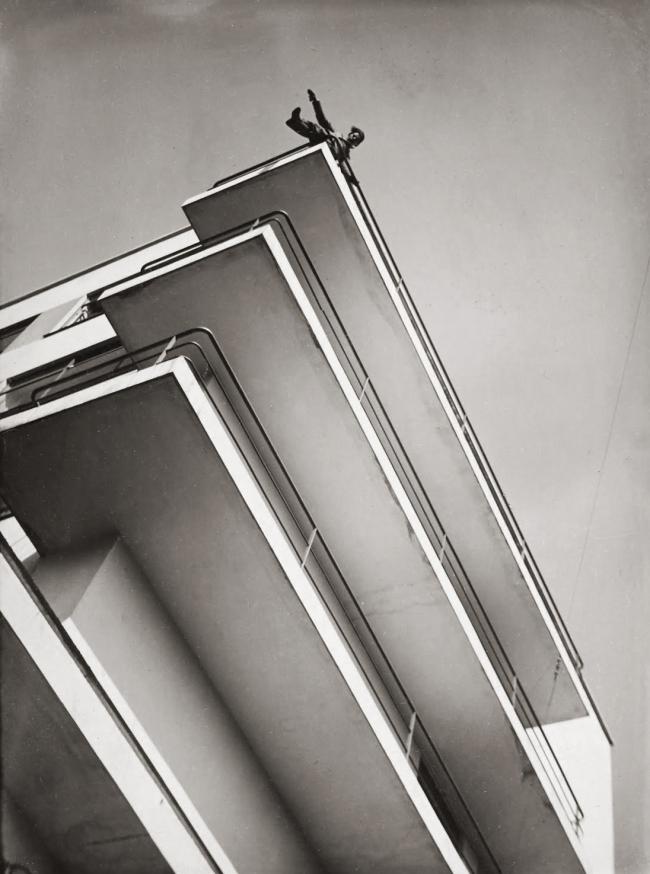 László Moholy-Nagy(1895-1946) 'Xanti Schawinsky on the balcony of the Bauhaus' 1929