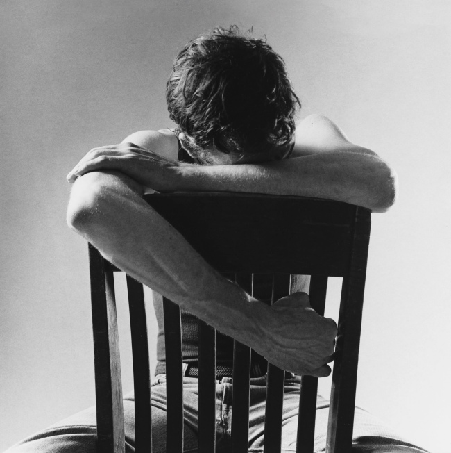 "Peter Hujar (1934-1992) 'David Wojnarowicz (Village Voice ""Heartsick: Fear and Loving in the Gay Community"")' 1983"