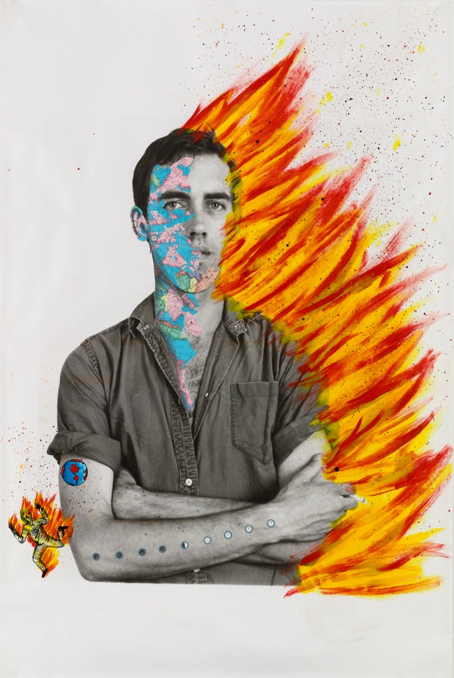 David Wojnarowicz (1954-1992) with Tom Warren. 'Self-Portrait of David Wojnarowicz' 1983-84