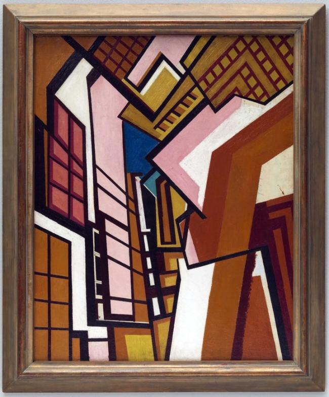 Wyndham Lewis (1882-1957) 'Workshop' c. 1914-5