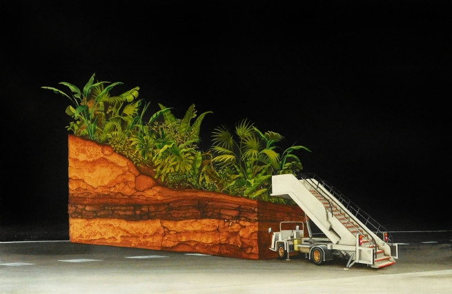 Dale Cox (b. 1969) 'Flight SQ2118 to Thailand' 2018