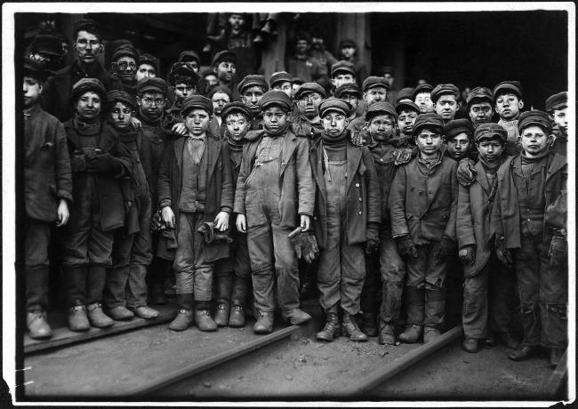 Lewis Hine (1874-1940) 'Breaker boys working in Ewen Breaker. S. Pittston, Pa.' January 1911