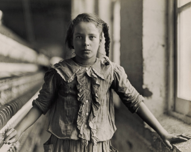 Lewis Hine (1874-1940) 'Cora Lee Griffin, spinner in cotton mill, 12 years old, Whitnel, North Carolina' 1908
