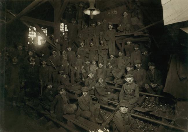 Lewis Hine (1874-1940) 'Noon hour in the Ewen Breaker, Pennsylvania Coal Co.' Jan. 1911