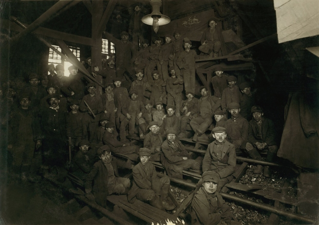 Lewis Hine (1874-1940) 'Noon hour in the Ewen Breaker, Pennsylvania Coal Co.' Jan. 1911