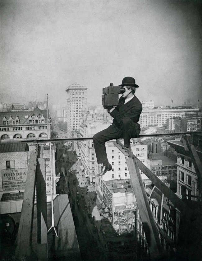 Lewis Hine with camera