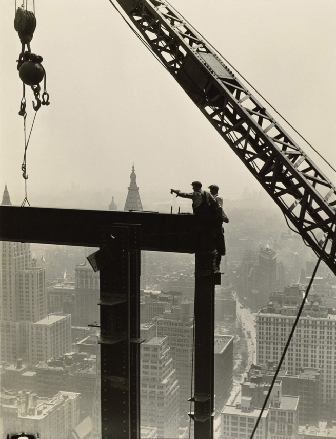 LEWIS W. HINE (1874-1940) 'Derrick and workers on girder' 1930-31