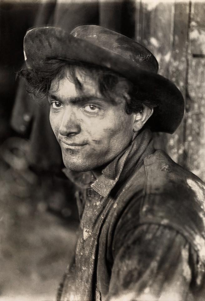 Lewis Hine (1874-1940) 'Italian steel-worker' 1909