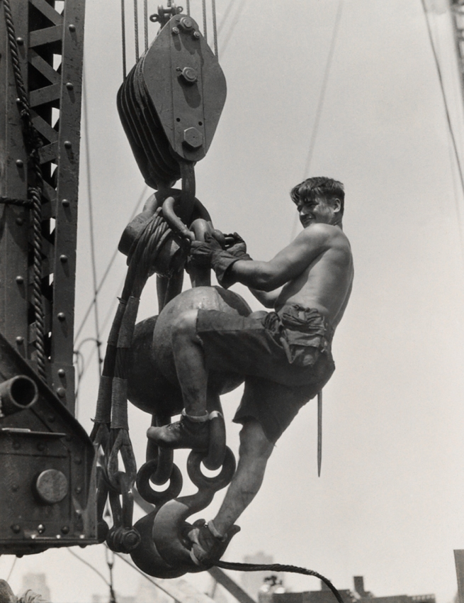 Lewis Hine (1874-1940) 'Laborer on connector' 1930-31