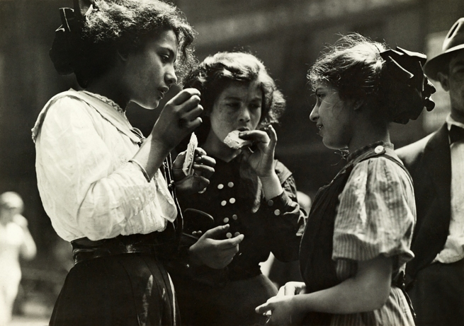 Lewis Hine (1874-1940) 'Noon hour in East Side factory district' 1912