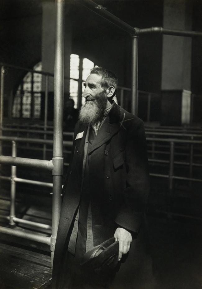 Lewis Hine (1874-1940) 'Patriarch at Ellis Island' 1905