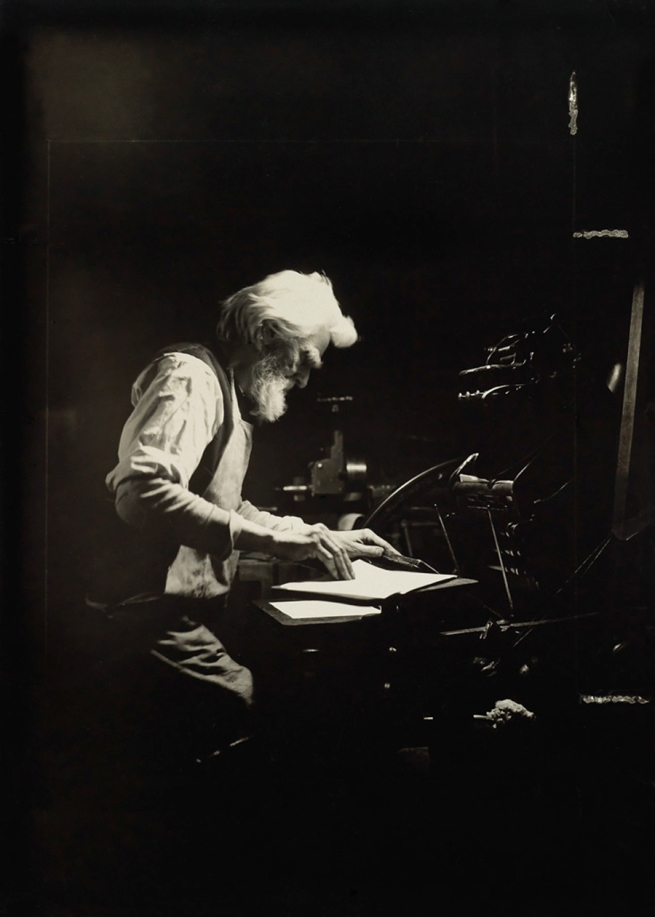 Lewis Hine (1874-1940) 'Printer Ethical Culture School' 1905