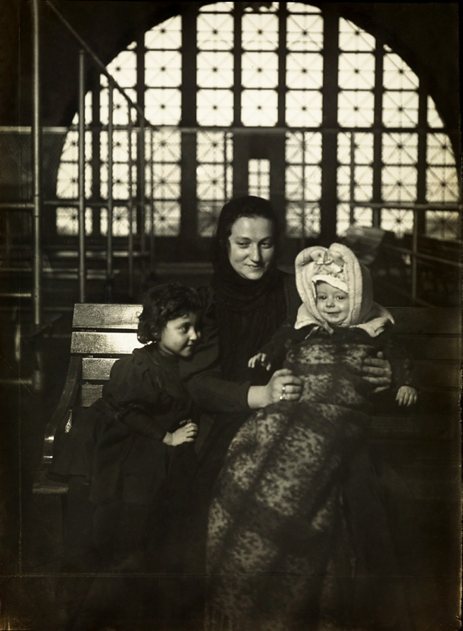 Lewis Hine (1874-1940) 'Russian family at Ellis Island' 1905