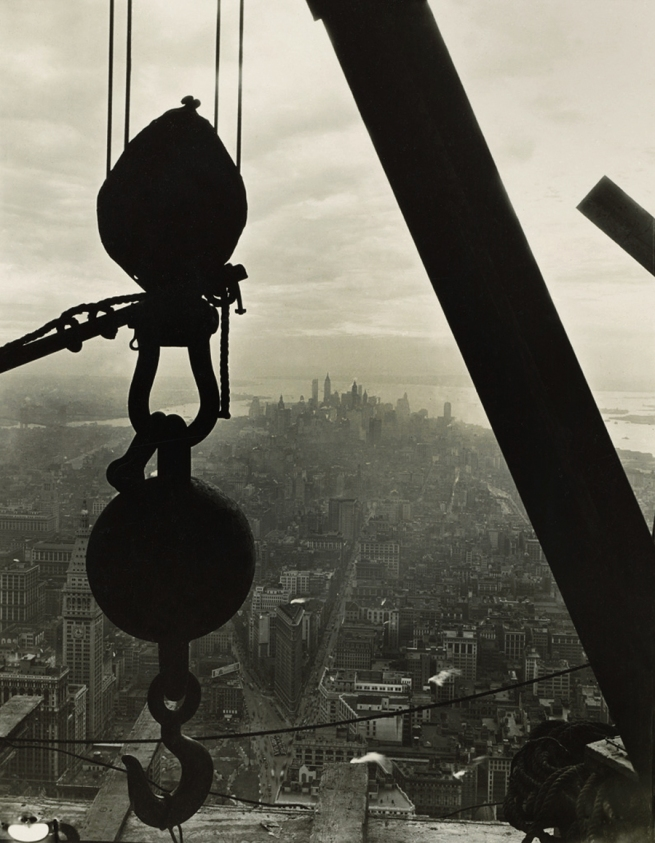 LEWIS W. HINE (1874-1940) 'Silhouetted crane hook' 1930-31