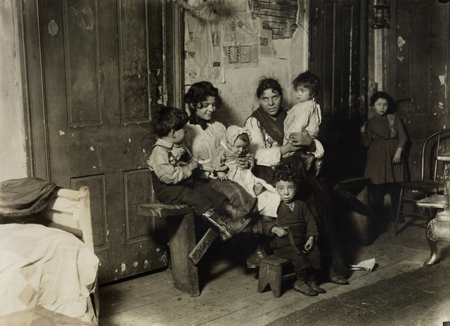 Lewis Hine (1874-1940) 'Tenement family, Chicago' 1910