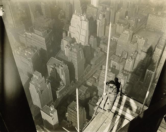 LEWIS W. HINE (1874-1940) 'Worker on platform' 1930-31