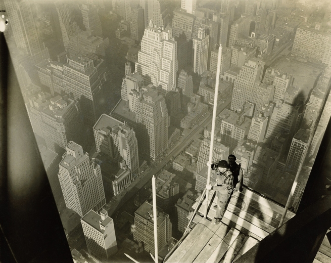 LEWIS W. HINE (1874-1940) 'Worker on platform' 1930-31
