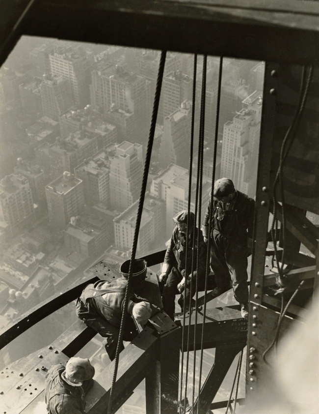 LEWIS W. HINE (1874-1940) 'Workers on girder' 1930-31