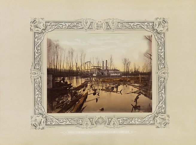 Robert B. Talfor. The snagboat 'U.S. Aid'. Plate C of the photographic album 'Photographic Views of Red River Raft' 1873