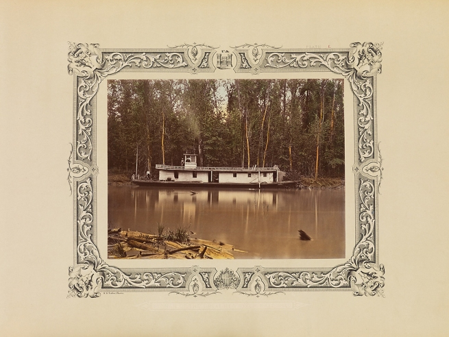 Robert B. Talfor. 'I.N. Kalbaugh' on the Red River. Plate E of the photographic album 'Photographic Views of Red River Raft' 1873