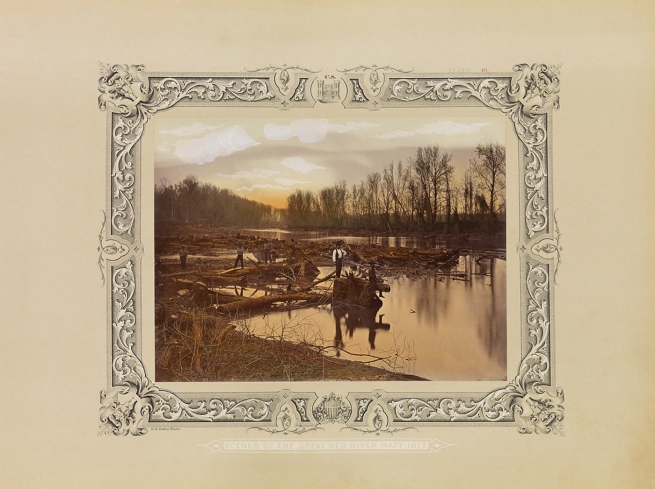 Robert B. Talfor. Foot of Raft No. 2. Plate VII of the photographic album 'Photographic Views of Red River Raft' 1873