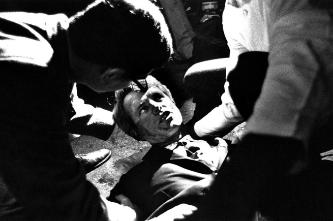 Boris Yaro (American, born 1938) 'LOS ANGELES. KENNEDY MOMENTS AFTER SHOOTING' June 5, 1968
