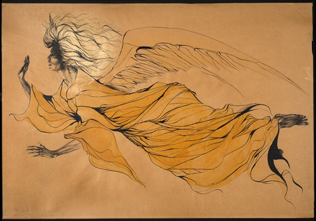 Marjorie Cameron. 'West Angel' Nd