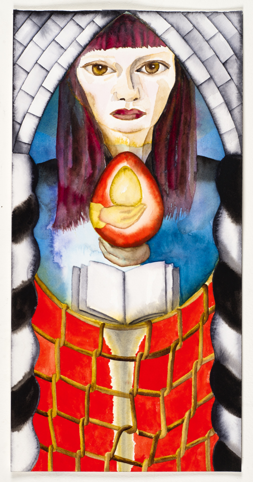 Francesco Clemente Tarot cards: the High Priestess | Art Blart