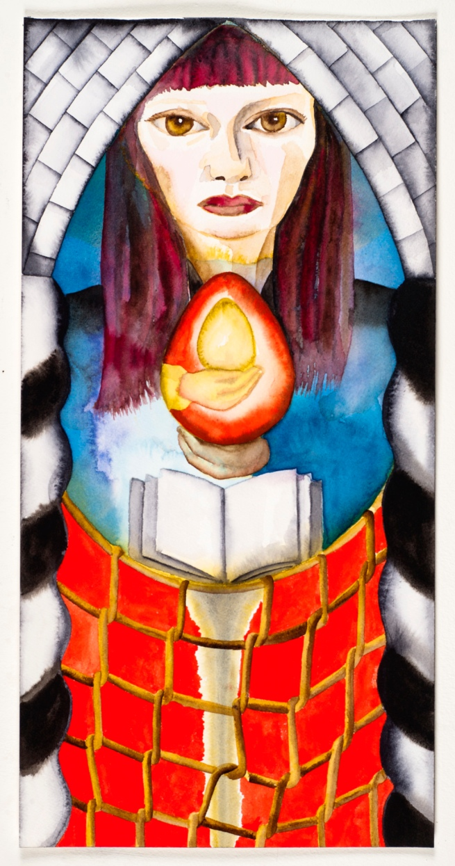 Francesco Clemente. 'Tarot cards: the High Priestess' 2009-2011