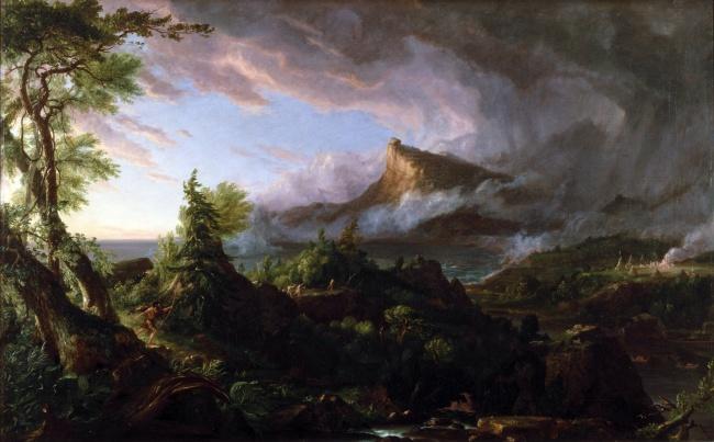 Thomas Cole (1801-1848) 'The Savage State' 1834