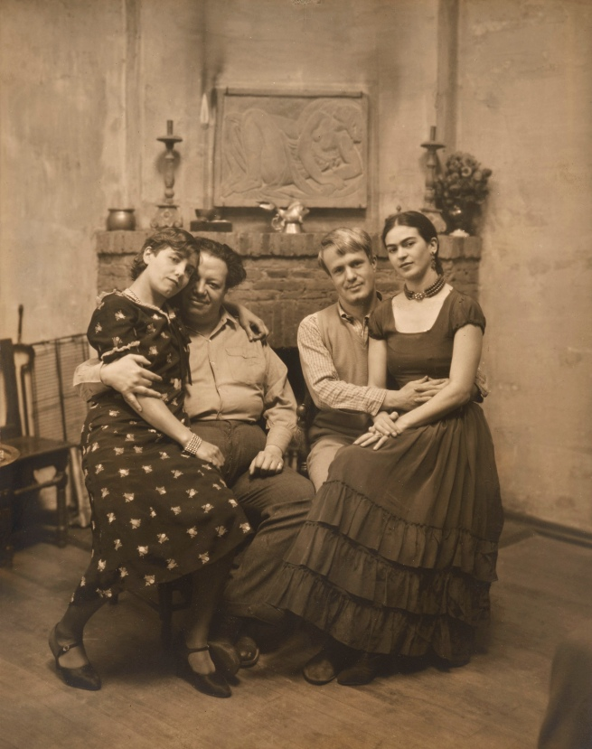 Peter A. Juley & Son (American) 'Diego Rivera and Frida Kahlo with Lucile and Arnold Blanch at Coyoacán' c. 1930