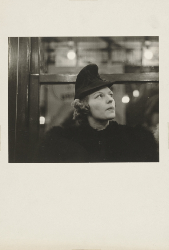 Walker Evans (American, 1903-1975) 'Subway Portrait' 1938-41