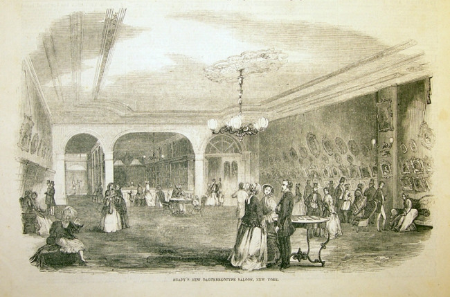 Unidentified artist (American) 'Brady's New Daguerreotype Saloon, New York Jun 11, 1853'