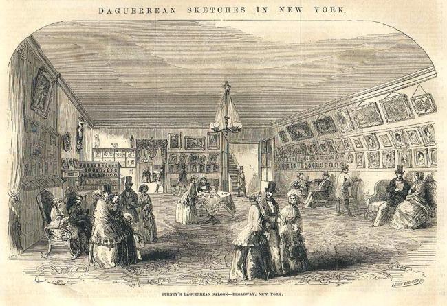 Leslie & Hooper (engravers) 'Gurney's Daguerreian Saloon at 349 Broadway, NYC' 12 November, 1853