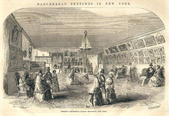Leslie & Hooper (engravers) 'Gurney's Daguerreian Saloon at 349 Broadway, NYC' 12 November, 1853