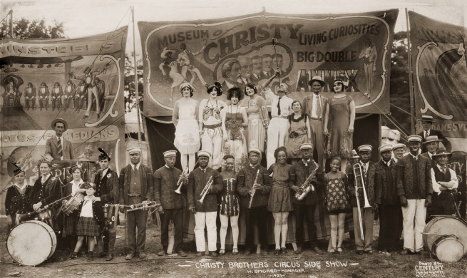 Edward Kelty (1888-1967) 'Christy Brothers Circus Side Show, H. Emgard - Manager' 1927