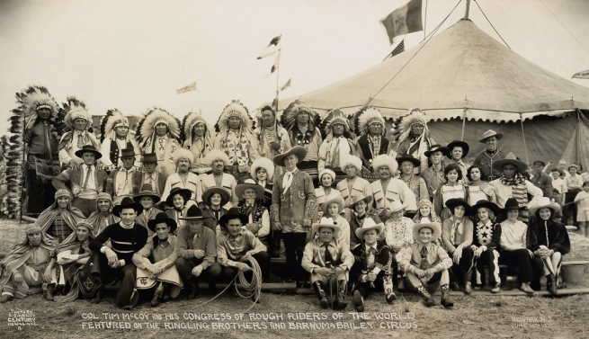 Edward J. Kelty (1888-1967) 'Col. Tim McCoy and his Congress of Rough Riders of the World Featured on the Ringling Brothers and Barnum & Bailey Circus' Newark N.J. June 11th 1935