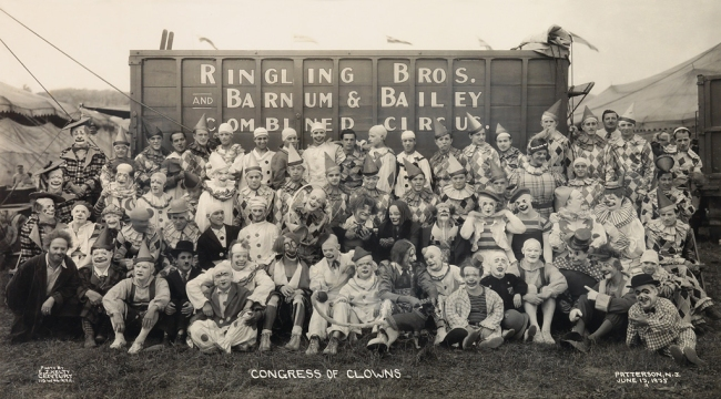 Edward Kelty (1888-1967) 'Congress of Clowns, Ringling Brothers and Barnum & Bailey Combined Circus' Patterson, N. J. June 13, 1935