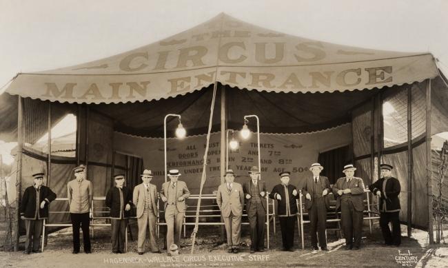 Edward Kelty (1888-1967) 'Hagenbeck-Wallace Circus Executive Staff' New Brunswick, N.J. - June 17th 1931