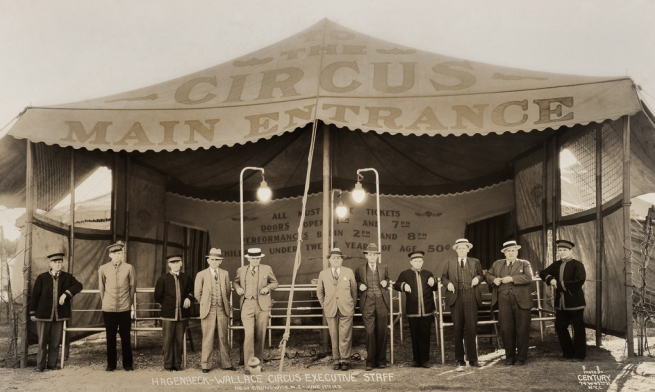 Edward Kelty (1888-1967) 'Hagenbeck-Wallace Circus Executive Staff' New Brunswick, N.J. - June 17th 1931