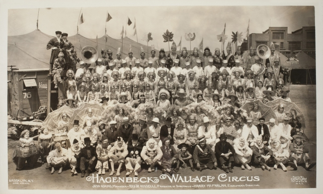 Edward Kelty (1888-1967) 'Hagenbeck-Wallace Circus, Jess Adkins, Manager - Rex De Rosselli, Producer of Spectacle - Harry McFarlan, Equestrienne Director'. Brooklyn, N.J. June 11th 1932