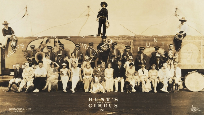 Edward Kelty (1888-1967) 'Hunt's Three Ring Circus' Northport, L.I., N.Y. - June 26th 1931