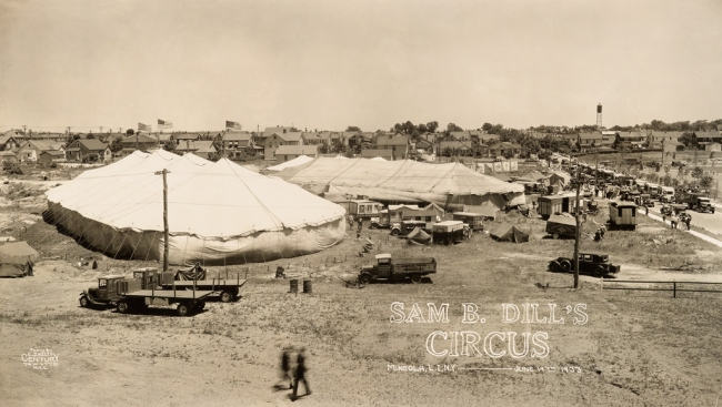 Edward Kelty (1888-1967) 'Sam B. Dill's Circus' Mineola, L.I. N.Y. - June 19th 1933