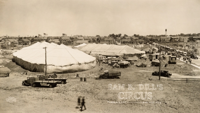 Edward Kelty (1888-1967) 'Sam B. Dill's Circus' Mineola, L.I. N.Y. - June 19th 1933