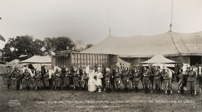 Edward Kelty (1888-1967) 'Tommy Atkins Military Riding Maids featured with Ringling Brothers and Barnum & Bailey Circus' Poughkeepsie, N.Y. - June 15th 1935