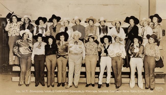 Edward Kelty (1888-1967) 'Col. W.T. Johnson's World Champion Cowgirls - Madison Square Garden - New York City - 1935'