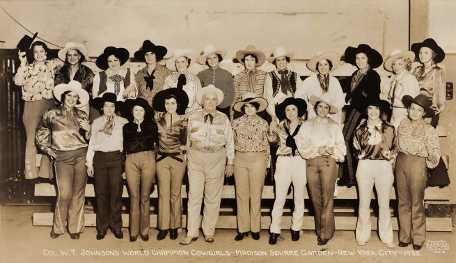 Edward Kelty (1888-1967) 'Col. W.T. Johnson's World Champion Cowgirls - Madison Square Garden - New York City - 1935'