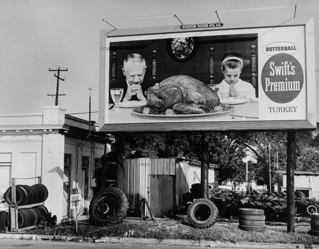 Thomas Hoepker (b. 1936) 'Billboard for Swift's Turkeys, Houston, Texas' 1963